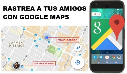 como rastrear movil por google maps